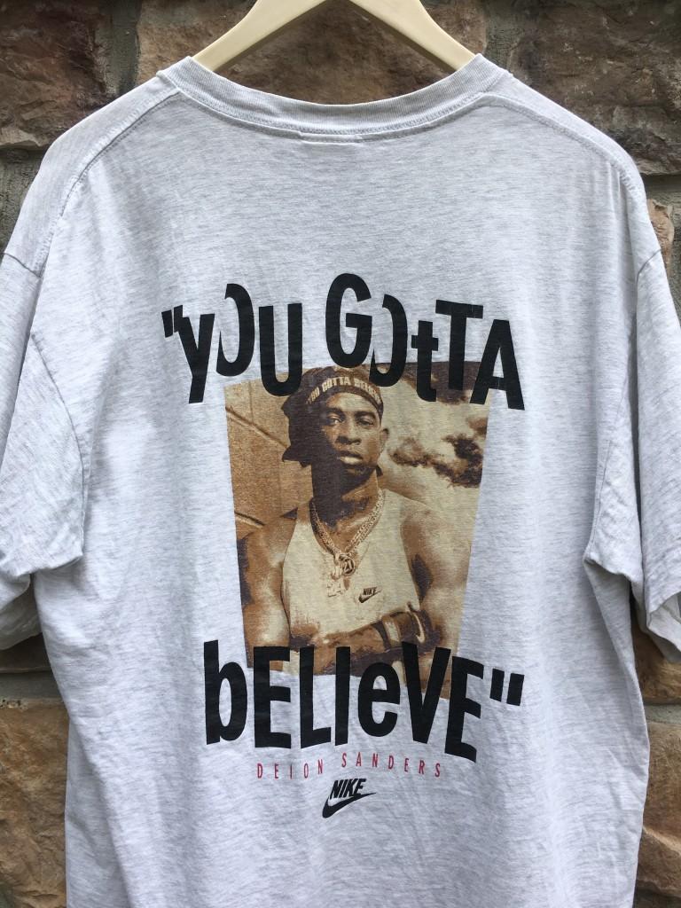 promo code 8e42f 78670 90's Deion Sanders Nike Diamond 2 Turf T Shirt Size XL
