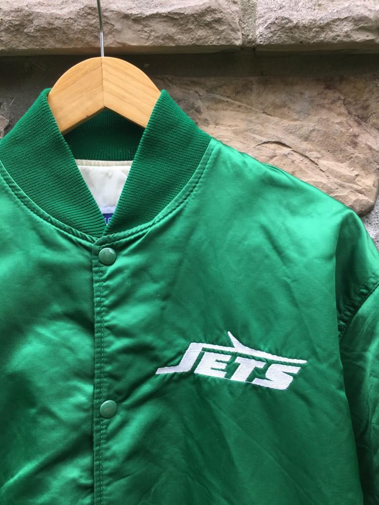 best service 5e165 8f956 80's New York Jets Starter Satin NFL Jacket Size Large