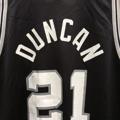1998 Tim Duncan San Antonio Spurs Champion NBA jersey size 48