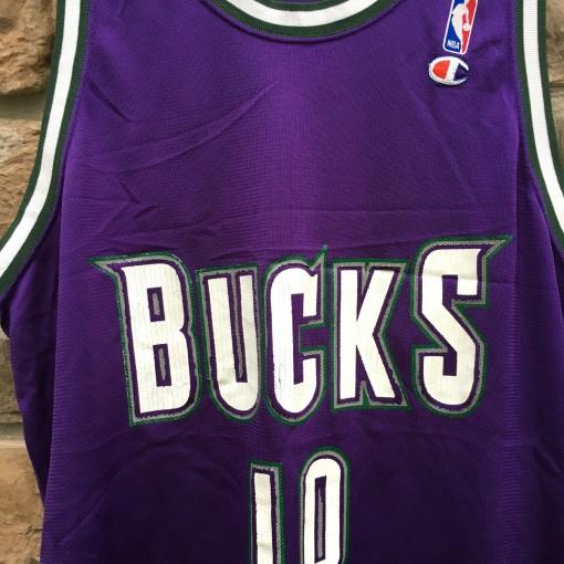 1994 Todd Day Milwaukee Bucks Champion NBA Jersey size 48