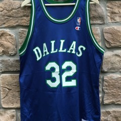 90's Dallas Mavericks Jamal Mashburn Champion NBA jersey size 48