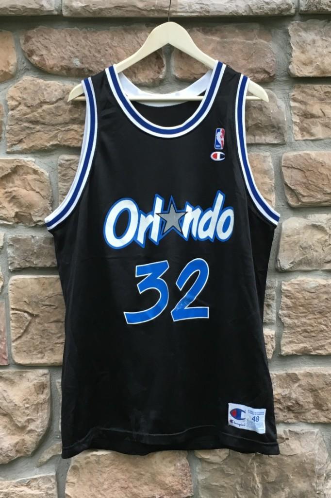 69e34782c 1993 Shaquille Shaq O neal Orlando Magic Champion NBA Jersey size 48