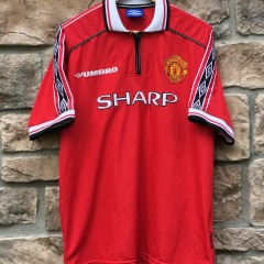 1998 Manchester United Futbol Jersey Soccer Size XL 90's Umbro