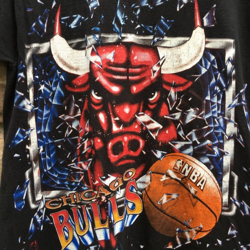 1992 Chicago Bulls Shattered Backboard NBA T shirt size medium