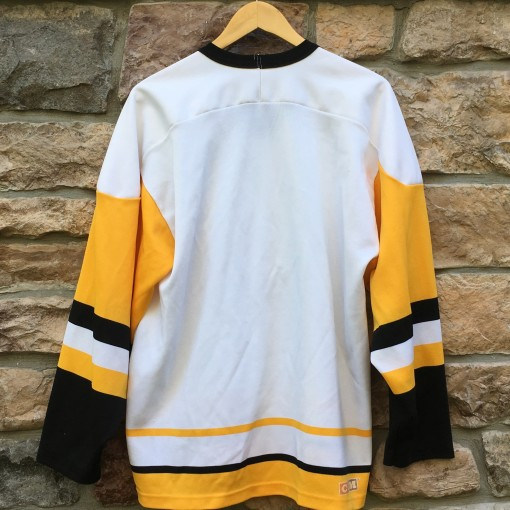 vintage 80's Pittsburgh Penguins CCM White NHL Jersey size Large