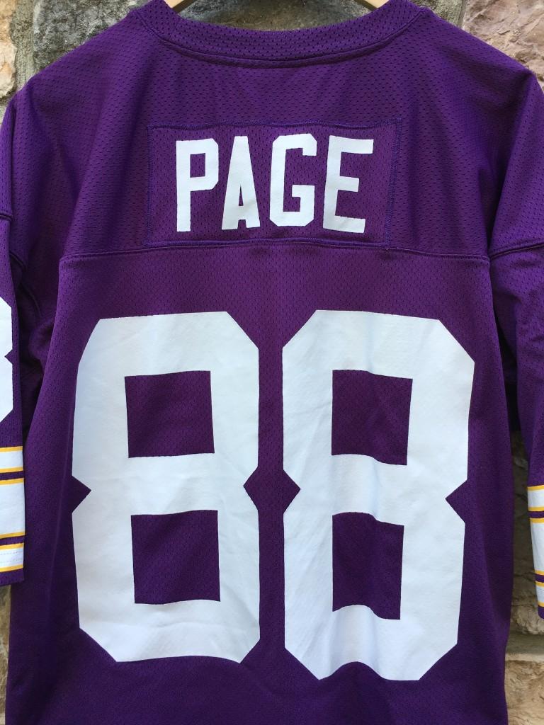 1975 Alan Page Minnesota Vikings Mitchell Ness Nfl Jersey Size 48
