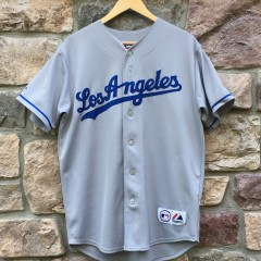 Vintage Manny Ramirez Los Angeles Dodgers Majestic MLB jersey size small grey