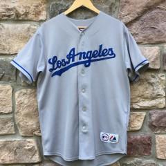 Vintage Manny Ramirez Los Angeles Dodgers Majestic MLB jersey size small grey