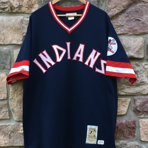 1975 Frank Robinson Cleveland Indians Mitchell & Ness MLB jersey size 2XL