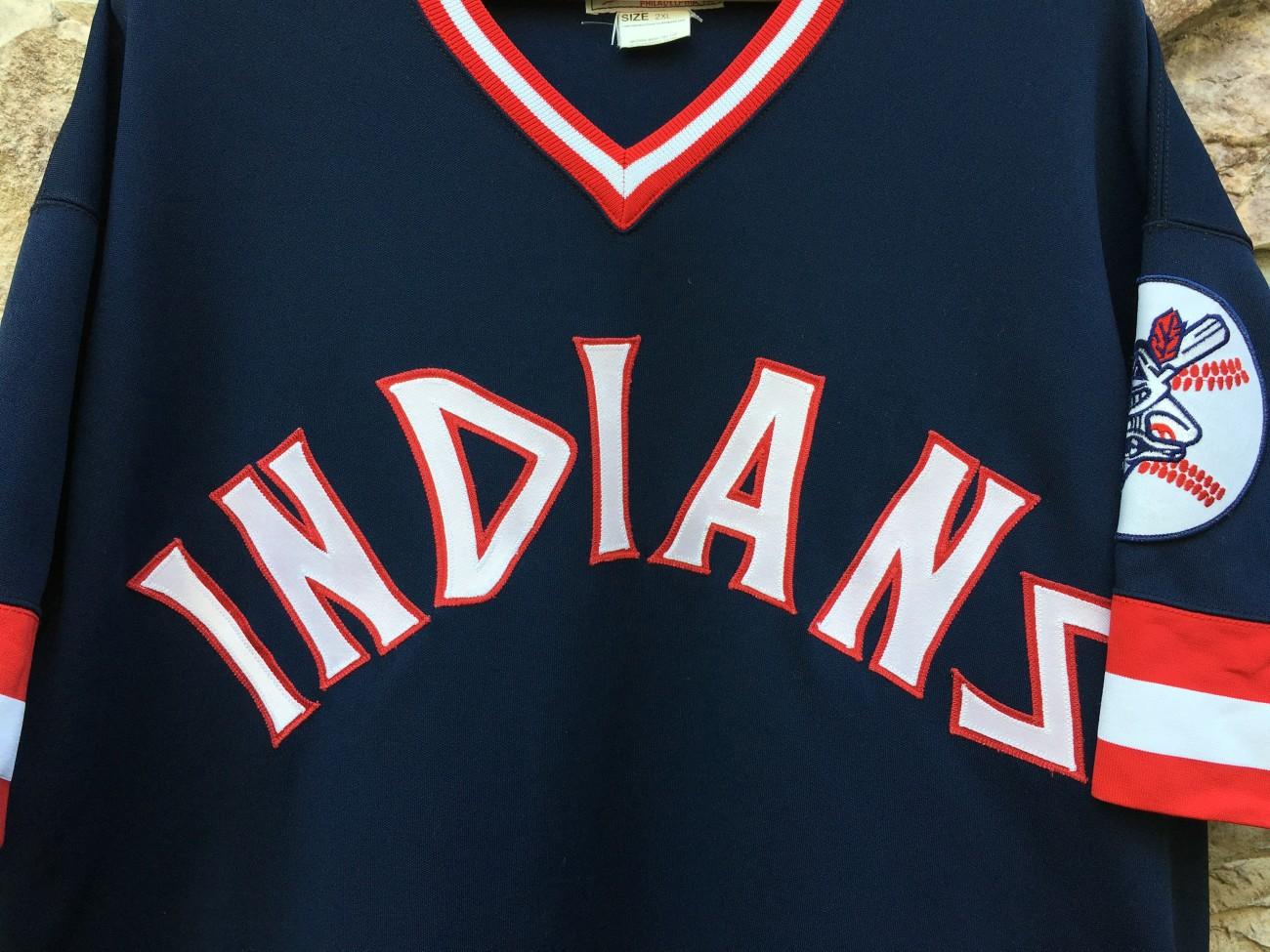535f5e36775 1975 Frank Robinson Cleveland Indians Mitchell   Ness MLB jersey size 2XL