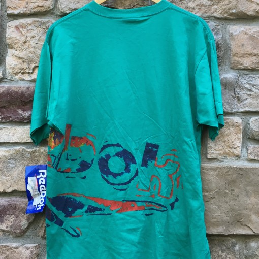 vintage 90's Reebok Basketball T shirt aqua size large