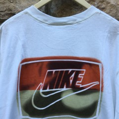 Deadstock 90's Nike red black back logo t shirt size XL