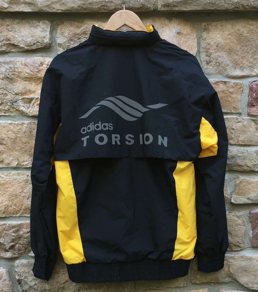 1989 Adidas Torsion Black Yellow Deadstock Windbreaker