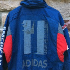 80's Adidas American Excellence windbreaker jacket deadstock size medium