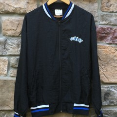 vintage 80's Adidas windbreaker jacket black blue size large
