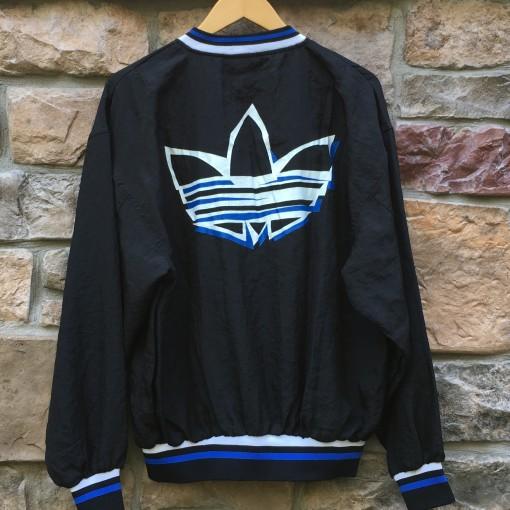 vintage 80's Adidas windbreaker jacket black blue size large