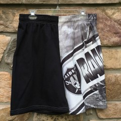 90's Los Angeles Raiders Chalkline Fanimation shorts size large deadstock
