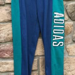 deadstock 90's Adidas Sweatpants blue aqua size large