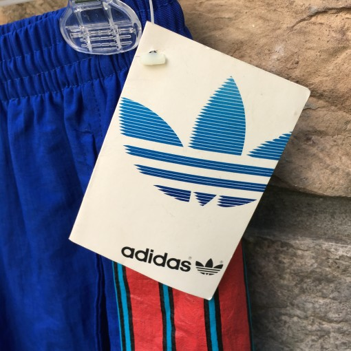 deadstock 90's Team Adidas Track pants blue size small