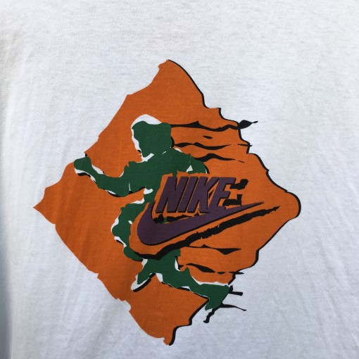 Early 90's Nike Just Do It T shirt grey red tag size large deadstock