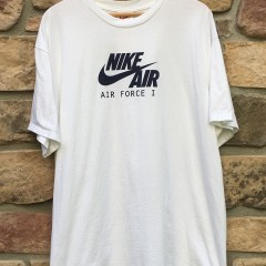Original early 90's Nike Air Force I 1 One T shirt white size XL deadstock