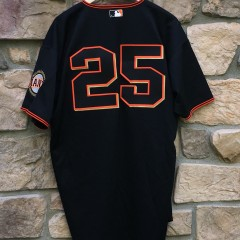 2001 Barry Bonds San Francisco Giants Authentic Russell Diamond collection MLB jersey size 48 Black alternate