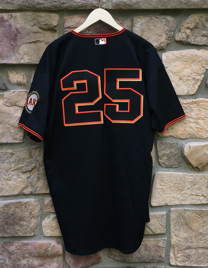 save off 02019 0ef51 2001 Barry Bonds San Francisco Giants Authentic Russell MLB Jersey Size 48