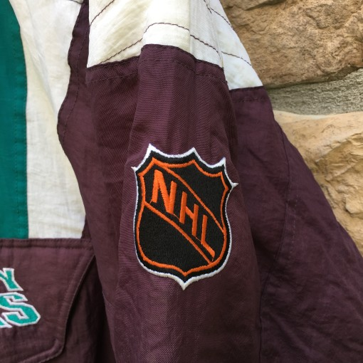 90's Anaheim Mighty Ducks Starter NHL pullover jacket size medium original
