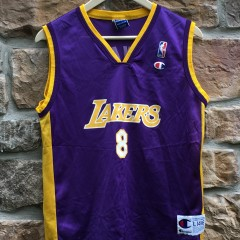 2001 Kobe Bryant Los Angeles Lakers  8 Champion Jersey youth size large  purple d3e7fedf7