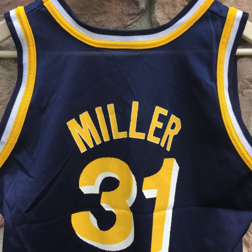 1992 Reggie Miller Indiana Pacers Champion NBA jersey youth size large