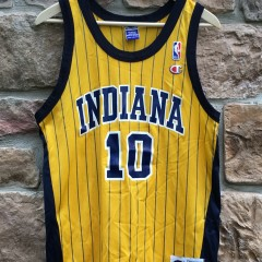 1999 Jeff Foster Indiana Pacers Champion NBA jersey yellow replica size 40 medium