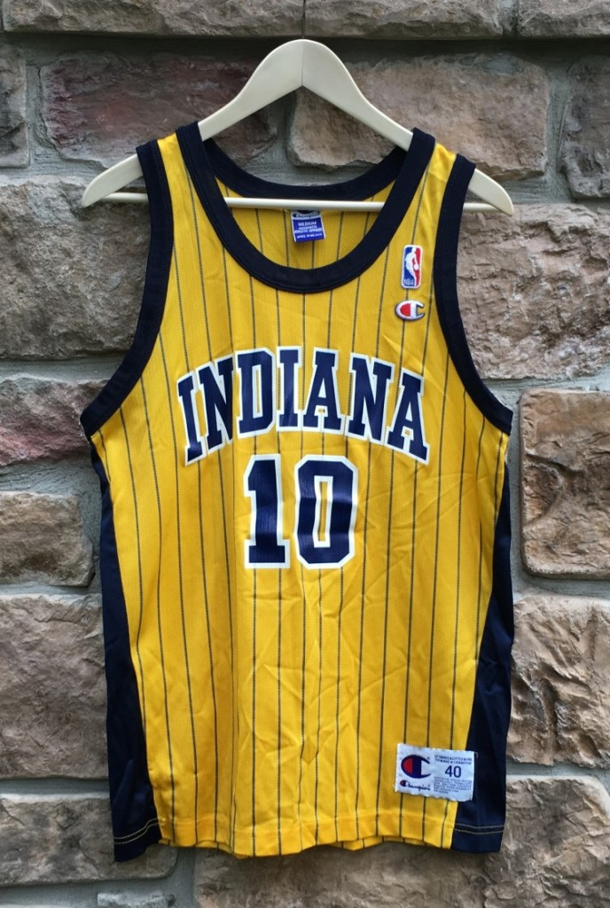 wholesale dealer a3809 08654 1999 Jeff Foster Indiana Pacers Champion NBA Jersey Size 40