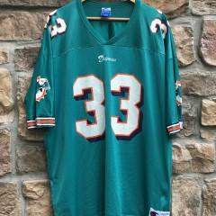 1997 Karim Abdul-Jabbar Miami Dolphins Champion NFL jersey size 52 XXL