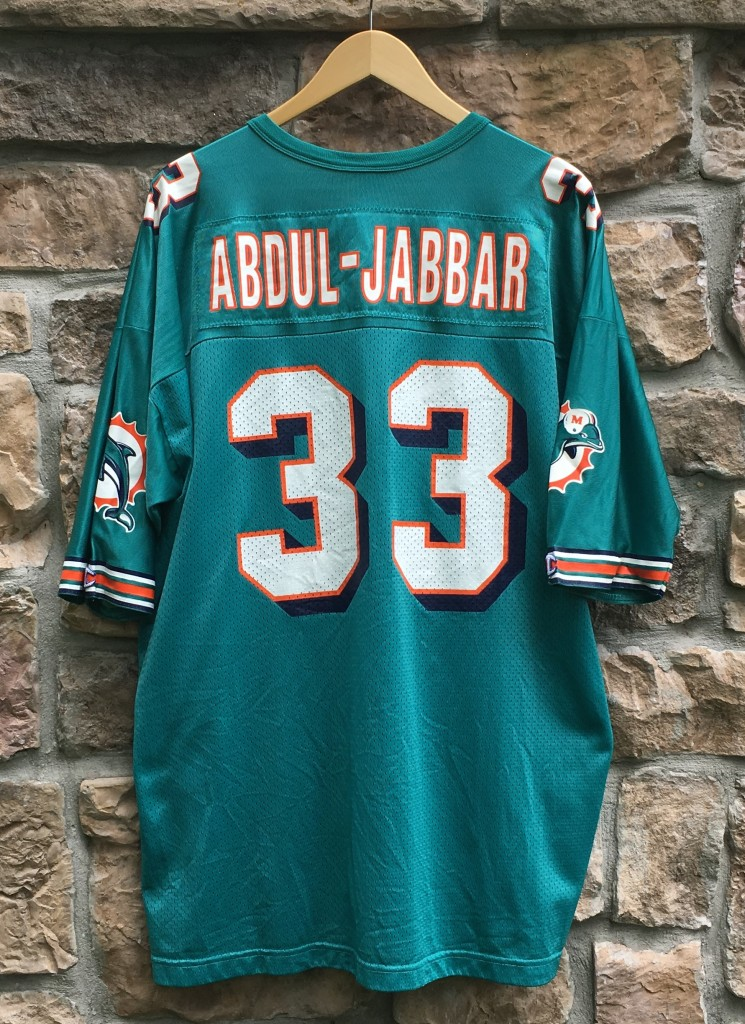 1997 karim abduljabbar miami dolphins champion nfl jersey
