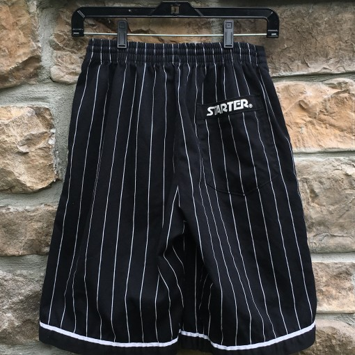 90's Starter Black Pinstripe shorts size small NWA