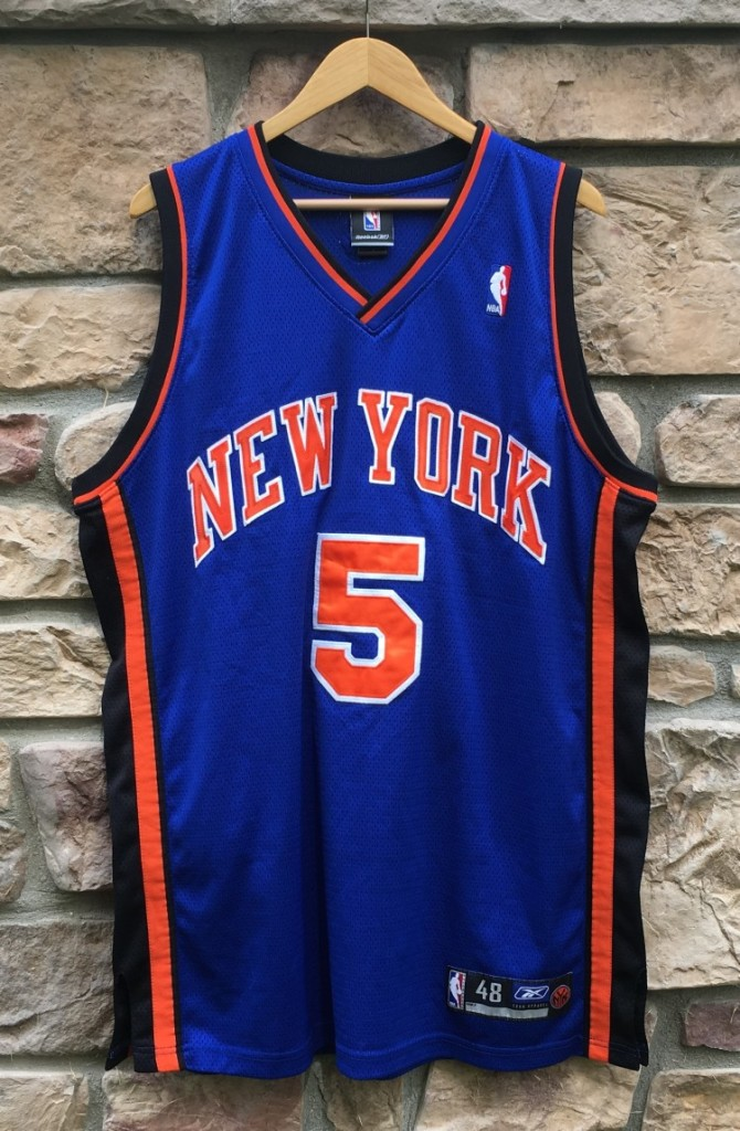 huge selection of a45cd bd4d4 2005 Jalen Rose New York Knicks Authentic Reebok NBA Jersey Size 48