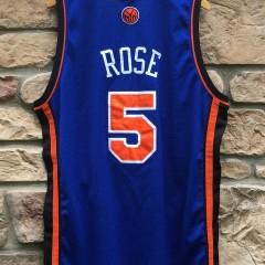 2005 Authentic Jalen Rose New York Knicks Reebok NBA jersey size 48 blue