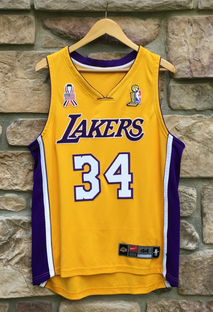 577288783 2001-02 Los Angeles Lakers Shaquille O Neal Authentic nike jersey size 44  NBA