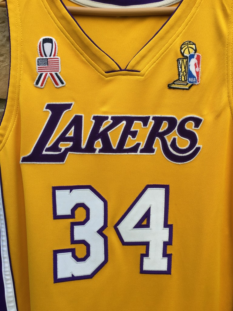 199e55138 2001-02 Los Angeles Lakers Shaquille O Neal Authentic nike jersey size 44  NBA