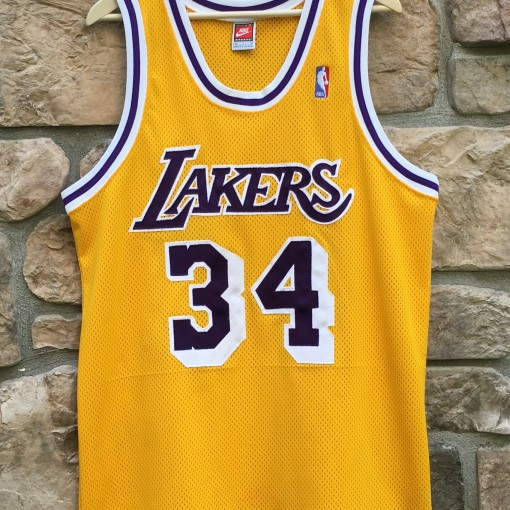 1998 Los Angeles Lakers Shaquille shaq O'neal Nike authentic Jersey size 44 large mesh