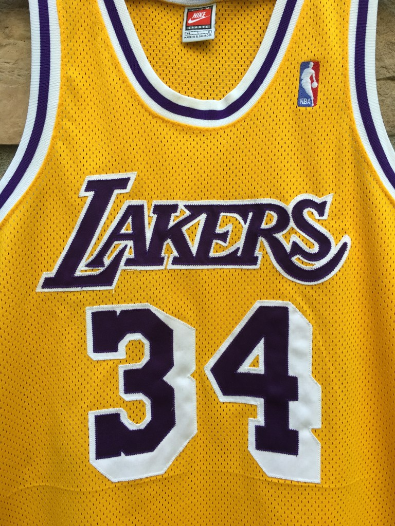e6374c9c40a 1998 Los Angeles Lakers Shaquille shaq O neal Nike authentic Jersey size 44  large mesh