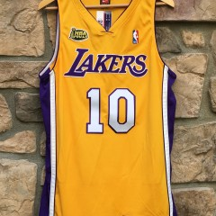 2001 NBA Finals Authentic Tyrone Lue Los Angeles Lakers Nike Authentic Jersey size 44 Large