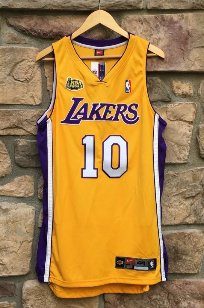 sale retailer 1dc79 8ffbc 2001 Tyronn Lue LA Lakers NBA Finals Nike Authentic NBA Jersey Size 44