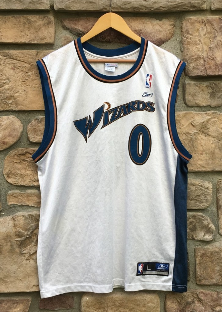 meet 334e7 8df79 2003 Gilbert Arenas Washington Wizards Reebok NBA Jersey Size Large