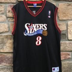 2001 Aaron Mckie Philadelphia Sixers Champion NBA jersey size 48 XL