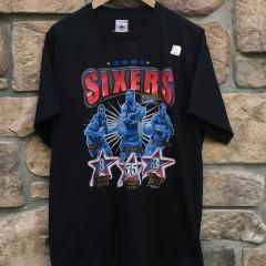 2001 Philadelphia Sixers Aaron Mckie Dikembe mutombo allen iverson t shirt size large
