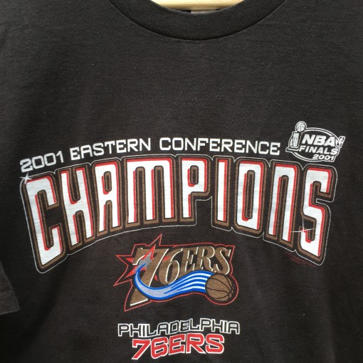 2001 Philadelphia Sixers Eastern Conference champions NBA Finals Shirt size xl