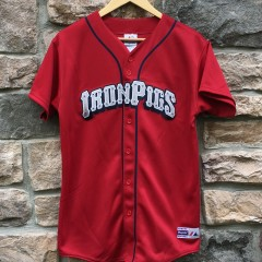 Lehigh Valley Iron Pigs majestic jersey youth size XL