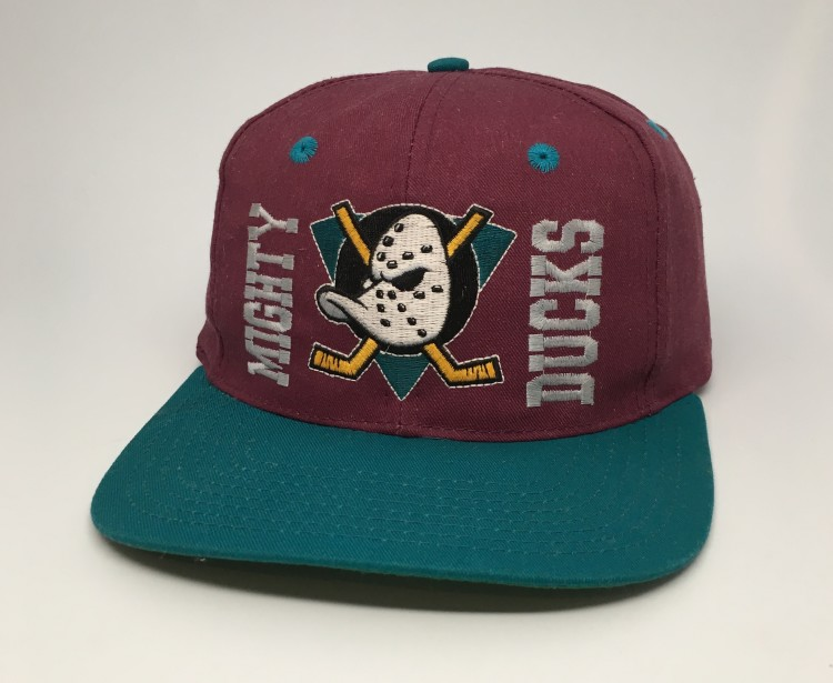 1fe0aedb3 90's Anaheim Mighty Ducks NHL Snapback Hat
