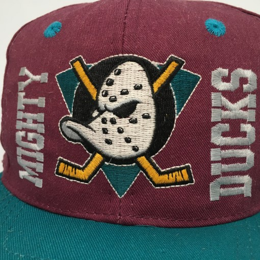 vintage 90's Anaheim Mighty Ducks ANNCO NHL Snapback hat